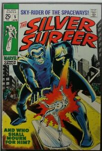 Silver Surfer #5 - 8.5 - Appearance by Stranger and Fantastic Four - 1969