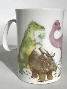 Vintage Dunoon Mug Dinosaurs by Cherry Denman Fine Bone China England