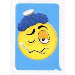 Get Well Greeting Card - Emoticon Hangover!