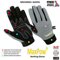 KYB® Strong Grip Anti Slip Padded Builders Safety Working Mechanics Work GLOVES