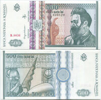 Romania N034 1992, 500 Lei (Brancusi, Dec.) P-101, scarce retired UNC banknote