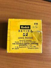 Kodak Retina Rubber Lens Hood 32 Stock Number E10 New old Stock in Torn Box