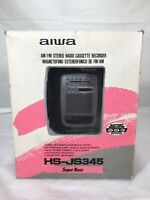 Aiwa HS-JS345 Walkman Cassette Player AM/FM Radio Speaker w Box FOR REPAIR