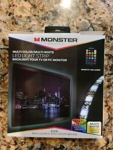 Monster Multi-Color Multi-White LED Light Strip with Remote (MLB7-1027-BLK)