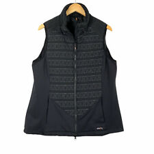 New listing Kerrits Womens Quilted Full Zip Vest Vest Sz XL Black Equestrian Horse