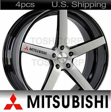 4 MITSUBISHI Stickers Decals Door Handle Wheels Mirror Racing evo lancer BLACK