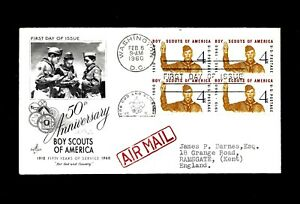 1960 USA FDC, 50th Anniversary of Boys Scouts of America