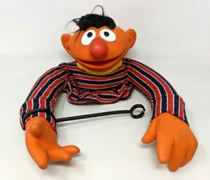 VTG 1970 Muppet Sesame Street Ernie Hand Puppet Cloth Rubber Child Guidance Toy