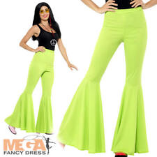 Flared Trousers Ladies - Fancy Dress Flares Disco 1960s Hippy Costume 1970s