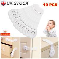 10X Child Baby Cupboard Cabinet Safety Locks Proofing Door Drawer Fridge Kids