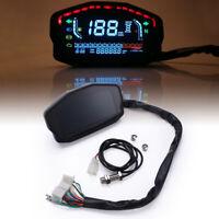 Motorcycle Digital LCD Backlight Odometer Speedometer Tachometer Gauge Universal