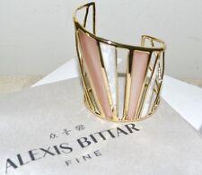 New $425 ALEXIS BITTAR Luna Colorblock Lucite Howlite Cuff Bracelet Sunset Blush