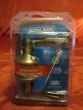 Schlage Antique Brass Flair Keyed Entry Lever F51 V Fla 609 New
