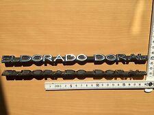 Cadillac Eldorado Doral E&G 2x Schriftzug Dach Kofferraum Emblem Ornament Script