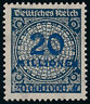 DR 1923, MiNr. 319 A Wb, tadellos postfrisch, gepr. Dr. Oechsner, Mi. 40,-