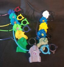 Lot of Beyblades Bayblades 12 Launchers 12 Cords Battle Top Game Used See Pics