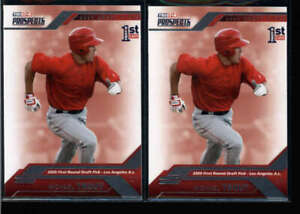 LOT OF (2) MIKE TROUT 2009 TRISTAR #20 PROSPECTS ROOKIE RC N6736