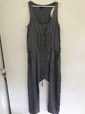 💖 WITCHERY Silky Playsuit Jumpsuit Romper Slight Green Grey Sz 14 M L