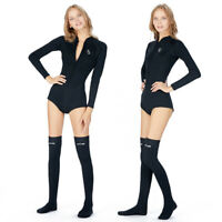 Women Shorty Wetsuit 2mm Neoprene Long Sleeve Wetsuit Stockings Surf Diving Suit