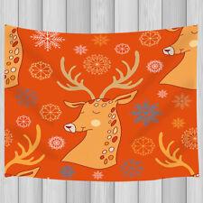 Cartoon reindeer pattern Tapestry Wall Hanging for Living Room Bedroom Decor