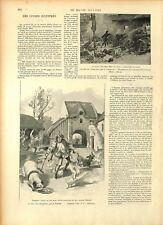 Le roi des jongleurs par Albert Robida illustrateur Chateaumorand GRAVURE 1897