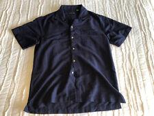 Covington Men's Button up Shirt Size Medium Navy Blue Casual