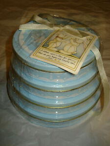Vintage Blue Hand Print Kit for Years 1-5, Tower of Time 2002 Child to Cherish.