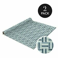 Self Adhesive Shelf Liner 2 Pack Rolls 1.5ft x 10ft Mosaic Marble Gray Pattern