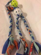 Dog Fleece Braided Tug & Chew W/Ball Toy Set ~ 2 Homemade Toys 0712S