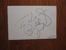 """BILLY DANIELS(Died-1988)(""""That Old Black Magic/Golden Boy"""")Signed 3 x 4 1/2 Card"""