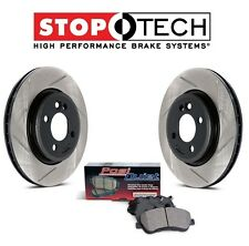 NEW Ford Fusion Lincoln MKZ Rear StopTech Slotted Brake Rotors Ceramic Pads Kit