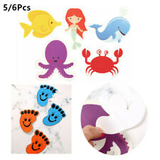 5/6Pcs Self-adhesive Anti-slip Safety Shower Treads Stickers for Showers Floors