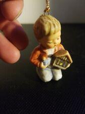 Vintage 1997 Berta Hummel Goebel Ceramic Christmas Ornament-Child with Nativity-