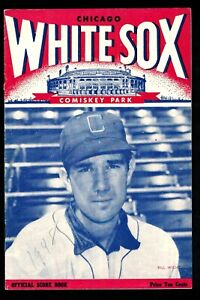 1948 Chicago White Sox Unscored Home Program vs. Philadelphia A's EX