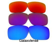 Galaxis Ersatzgläser für Oakley Holbrook Blue&purple&fire Rot 3pairs