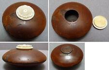 Boite tabatière en bois 19e siècle lenticulaire Chine Indochine ?