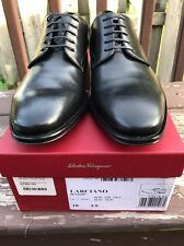 Salvatore Ferragamo Larciano Oxford Nero Black Calf Men's Lace Up NWB