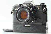*Exc+5*Canon AE-1 Black 35mm SLR Camera w/ New FD 50mm F1.8 Lens From JAPAN#043