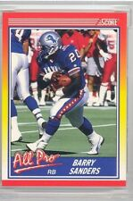 1990 Score Football Barry Sanders 4 Card Lot (HOF) cards are all near mint