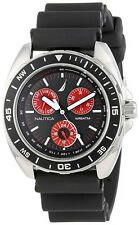Nautica Men's Chronograph Stainless Steel Black Resin Watch N07577G