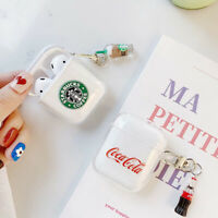 Cute Cartoon Silicone TPU Earphone Protective Cover For Airpods Charging Case US