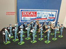 Ducal Modelos Británica RAF Royal Air Force 1950 de banda de 25 piezas de metal soldado de juguete