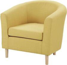 new tesco classic curved deep seat woven fabric tub armchair mustard yellow - Tesco Bedroom Furniture