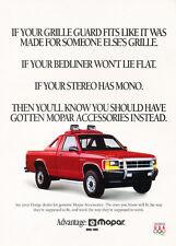1992 Dodge Dakota Mopar Accessories  - Original Car Advertisement Print Ad J171