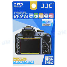JJC 2PCS LCD Screen Protector Guard Display Film for Nikon D3500 D3400 D3300