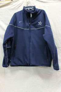 Dallas Cowboys NFL Adidas Zip Up Fleece Mens Large Great Used Condition Blue