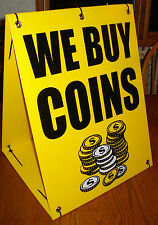 WE BUY COINS Sandwich Board Sign Kit (2 Sided) for Pawn Shops New Yellow