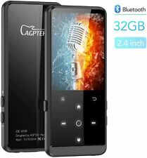 Agptek 32Gb Bluetooth 2.4 Inch Hd Screen Music Mp3 Player Expandable Up To 128Gb