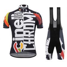 Men Cycling Short Sleeves jersey bib shorts sets mountain bike breathable S5