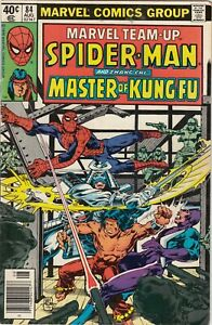 THE MARVEL TEAM-UP SPIDERMAN AND SHANG-CHI MASTER OF KUNG-FU FN/VG